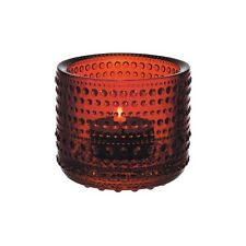 IITTALA CRANBERRY KASTEHELMI VOTIVE CANDLE HOLDER 6.4CM RED RRP$39.95
