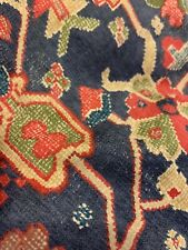 RALPH LAUREN Orienta Comforter Full / Queen Blue Persian Rug Red