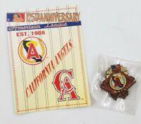 1994 California Angels American League Baseball Lapel Hat Pin Pinback Info Card