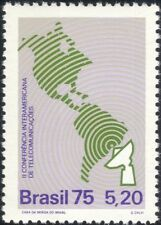 Brazil 1975 Telecommunications Conference/Radio Dish Aerial/Map 1v  (n27987)