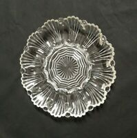 "Vintage Clear Glass 10"" Deviled Egg Plate or Oyster Tray Dish Dozen (bin5)"