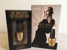 OPI THE MAN WITH THE GOLDEN GUN + OPI DON'T SPEAK (18K GOLD TOP COAT)