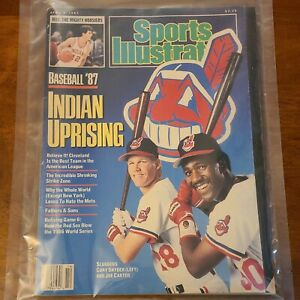 Sports Illustrated April 6 1987 Baseball Preview Cleveland Indians Joe Carter