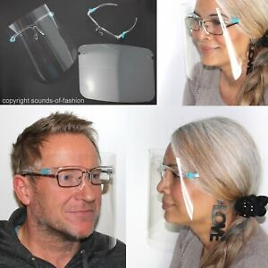 Gesichtsschutz Mund Nasen Visier Gesichtsmaske Schutzvisier Augenschutz Brille