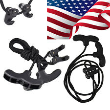 Crossbow Crank Cocking Device Rope Handle Tool for Archery Shooting Hunting Bk