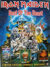 RARE IRON MAIDEN BEST OF THE BEAST 1996 VINTAGE MUSIC RECORD STORE PROMO POSTER
