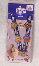 2016 ALBUQUERQUE FIESTA PIN TRADING LANYARD WITH 5 EXCLUSIVE COLLECTOR'S PINS