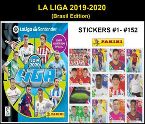 LA LIGA SANTANDER 2019-20 PANINI STICKERS #1- #152