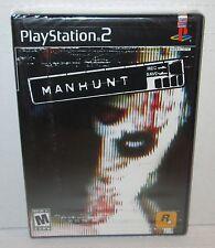 MANHUNT Sealed NEW PlayStation 2 Rockstar Violent Thriller Black Label w/Hologrm