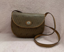 Vintage Christian Dior Honeycomb Coated Canvas Crossbody Bag