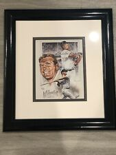 Mickey Mantle Autographed Michael Petronella Lithograph With COA