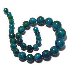 Azurite Chrysocolla Jasper Round Bead 10mm To 20mm Each 15 Inch Strand 32pcs MM4