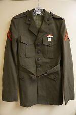 USMC Gabardine Dress Coat W/ Rifle Marksmanship Badge, Size 38L (A808)