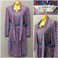 Vintage St Michael M&S Floral Retro Dress UK 14 EUR 42 US 10 Made in UK
