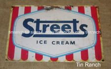 NEW vintage STREETS ICE CREAM TIN SIGN metal art new old MILK BAR cafe diner
