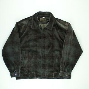 Parkland Mens Velvet Sport Coat Work Jacket Fleece Lined Collared Green Size XXL