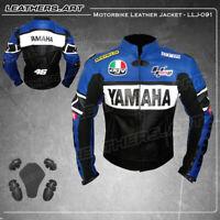 Yamaha Motorcycle motorbike rider racing leather jacket-LLJ-091