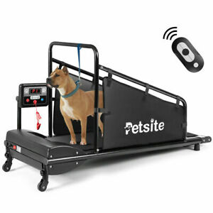 Petsite Pet Treadmill Indoor Exercise Fitness for Dogs w/ Remote Control Black