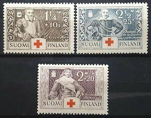 Finland Semi Postal Stamp 1934 Scott # B15-B17 Mi 184-186 MINT OG H