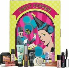 BENEFIT PARTY POPPERS MUSICAL ADVENT CALENDAR MAKE UP SAMPLE SET GENUINE