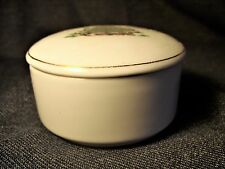Vintage Cinnamon Scented White Tree Decorated Christmas Tree Candle with Lid NEW