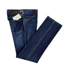New BRIONI Stelvio Bespoke Blues Stonewashed Cotton Denim Jeans 34 NWT $595!