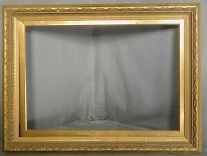VINTAGE 18x26 Mid Century Gilt Gesso Pine European Picture Frame Baroque Modern