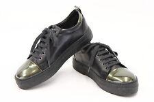 NWOB $1095 Brunello Cucinelli Women's 2Tone Leather Logo Sneakers 40/ 10US  A181