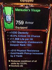 DIABLO 3 PRIMAL ANTICHE I Marauders Demon Hunter Set Di Patch 2.5 XBOX ONE softcore