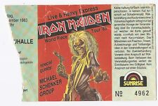 Iron Maiden     In Concert 1983   Ticket / Konzertkarte / Eintrittskarte