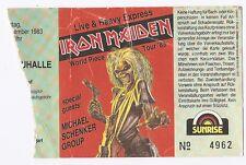 Iron Maiden     In Concert 1983   Ticket / Konzertkarte / Eintrittskarte