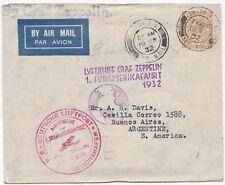 # 1932 RARE LONDON >ARGENTINA BY GRAF ZEPPELIN 2 DIFF 1 SUDAMERIKAFAHART CACHETS