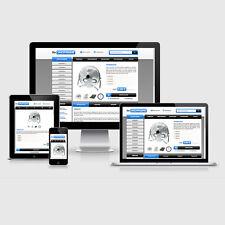 eBay Auktionsvorlage Rondo Blau Responsive Design HTML Template Vorlage