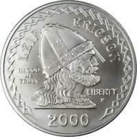 2000 P $1 Leif Ericson Commemorative Silver Dollar US Coin Choice Uncirculated