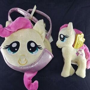 Fluttershy My Little Pony Aurora Plush Stuffed Animal Ponytail Purse Carrier