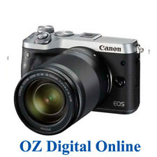 New Canon EOS M6 +18-150mm Lens Silver Mirrorless 24.2MP WiFi NFC Camera 1 YrWty