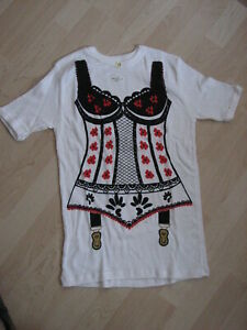 Fasching - Fasnet – Karneval - Vintage  Motivpulli Mieder - T-Shirt - Neu  Gr. 4