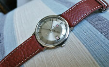 Vintage large Rado Golden Horse automatic watch in steel, pie pan dial, runs