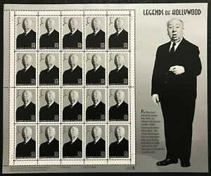 1998 Scott #3226 - 32¢ ALFRED HITCHCOCK Legends of Hollywood - Sheet of 20 - MNH
