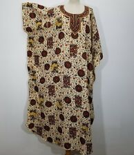 MATERNITY CAFTAN LOUNGE DRESS BATIK COMB V-NECK ONE SIZE LotusTraders MTO MH820