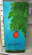 HI-BROWS birthday card vtg 1970s hippy Bohemian Family Tree genealogy humor