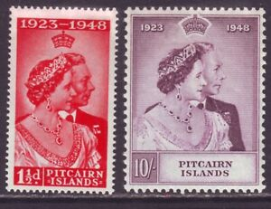 Pitcairn Islands 1948 SC 11-12 MH Set Silver Wedding