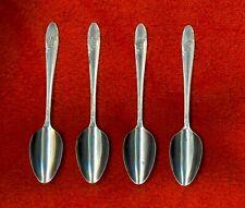 Oneida Tudor Plate QUEEN BESS II 4 Demitasse After Dinner Spoons Nice NoMonogram