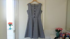 Vintage inspired gingham skater dress size 12