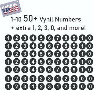 1-10 50+ Round Vynil Numbers for Address Locker Door Wall Die Cut Decal Sticker
