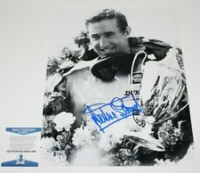 JACKIE STEWART FORMULA 1 LEGEND HAND SIGNED 11x14 PHOTO BECKETT BAS COA PROOF