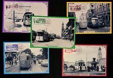 88-92 Sweden 1995 Trams maxicards transportation railway tramway Scott 2127-2131