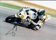 Fabien Foret mano firmado Hannspree Honda 7x5 Foto wsbk 11.