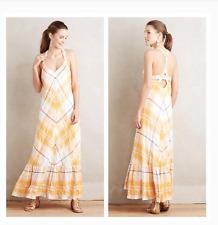 NEW Anthropologie Holding Horses Clementine Maxi Dress Mango Gold Sz M $158