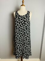 Decjuba Women's aystmertical Y2K Daisy Print Dress Size Med